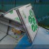 Прогресс-4. Стекло в рамке с калиткой для выхода на нос. 88