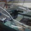 Прогресс-2.<br> Стекло в рамке с калиткой для выхода на нос 21