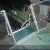 Прогресс-2.<br> Стекло в рамке с калиткой для выхода на нос 22