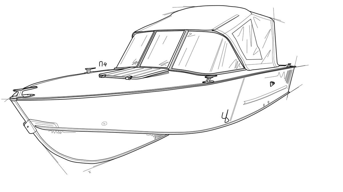 Стекло и тент для лодки Прогресс-4 1