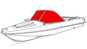 Стекло лобовое на лодку