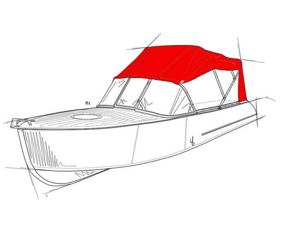 Казанка-1. <br>Тент ходовой для стекла с калиткой 1