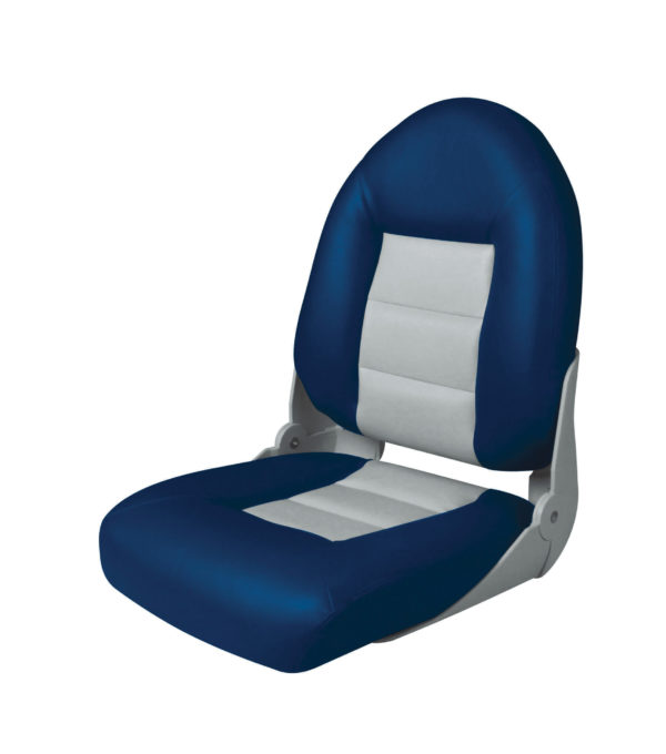 Сидение мягкое складное тип «Круиз». Серо-синее 470х495х597 1
