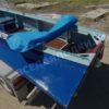 Казанка-1. <br>Тент ходовой для стекла с калиткой 105