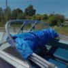 Казанка-1. <br>Тент ходовой для стекла с калиткой 107