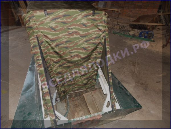 Казанка-1. <br>Тент ходовой для стекла с калиткой 10