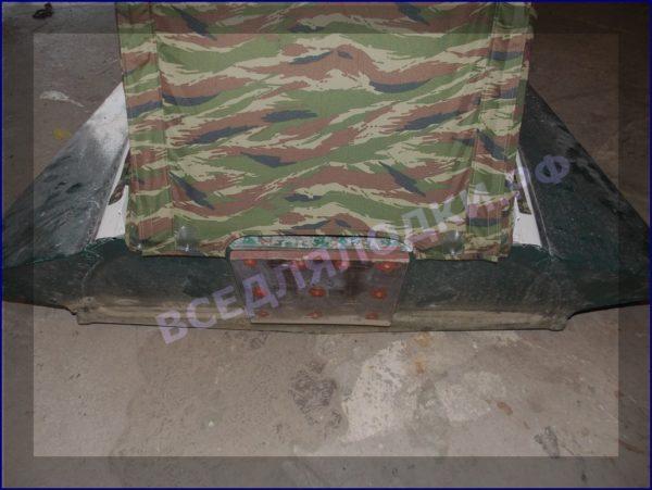 Казанка-1. <br>Тент ходовой для стекла с калиткой 11