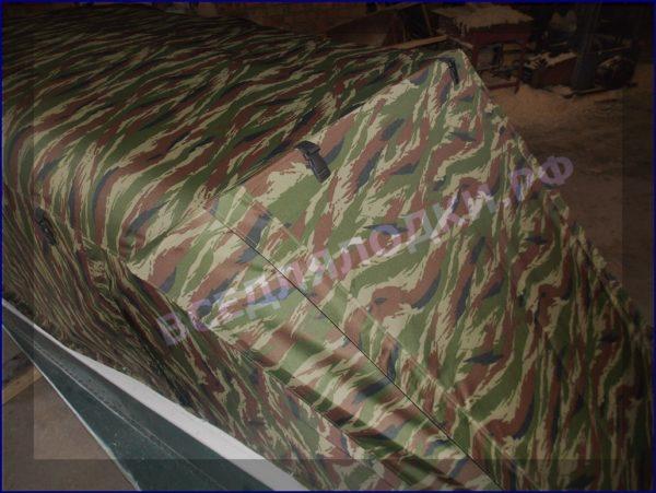 Казанка-1. <br>Тент ходовой для стекла с калиткой 12