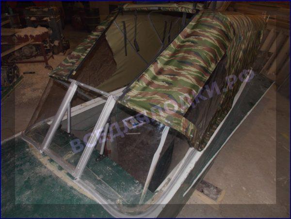 Казанка-1. <br>Тент ходовой для стекла с калиткой 15