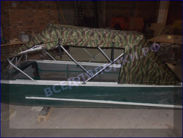 Казанка-1. <br>Тент ходовой для стекла с калиткой 18
