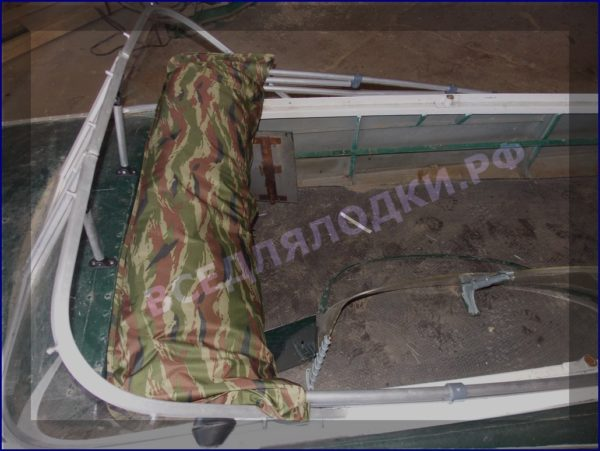 Казанка-1. <br>Тент ходовой для стекла с калиткой 33