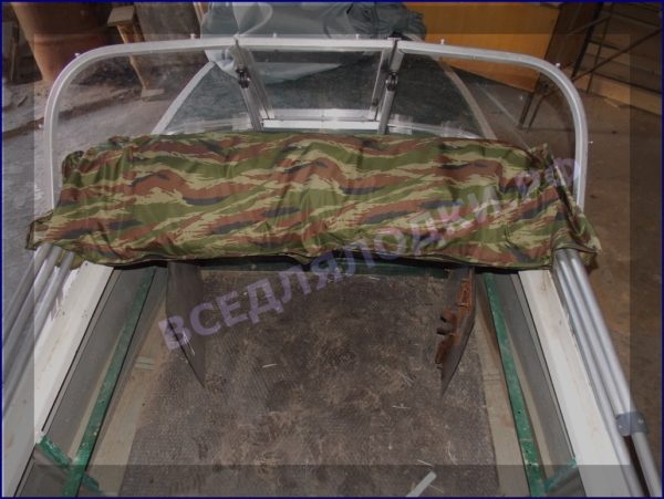 Казанка-1. <br>Тент ходовой для стекла с калиткой 35