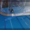 Казанка 5М 5М2,3,4. Стекло в рамке с калиткой для выхода на нос 64