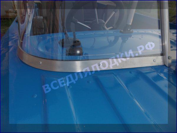 Казанка 5М 5М2,3,4. Стекло в рамке с калиткой для выхода на нос 16