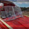 Казанка-5.<br>Стекло в рамке с калиткой для выхода на нос 52