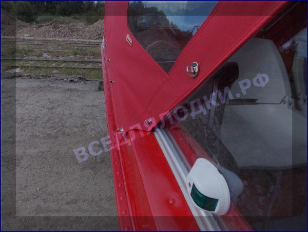 Казанка-5.<br>Стекло в рамке с калиткой для выхода на нос 25