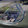 Казанка-5.<br>Стекло в рамке с калиткой для выхода на нос 33