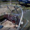 Казанка-5.<br>Стекло в рамке с калиткой для выхода на нос 35