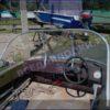 Казанка-5.<br>Стекло в рамке с калиткой для выхода на нос 36