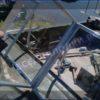 Казанка-5.<br>Стекло в рамке с калиткой для выхода на нос 44