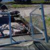 Казанка-5.<br>Стекло в рамке с калиткой для выхода на нос 46