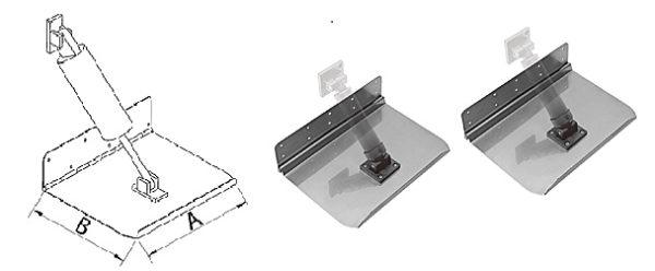 Транцевые плиты 2 шт. нерж сталь 325x300 мм для катеров до 12 метров 1