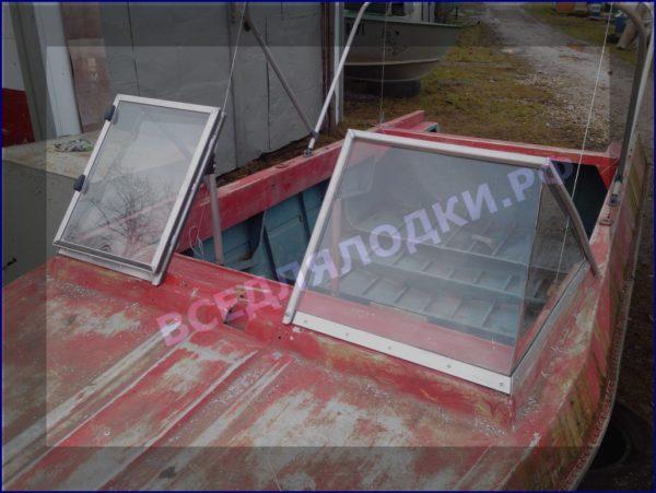 Крым. <br>Стекло в рамке с калиткой для выхода на нос 14