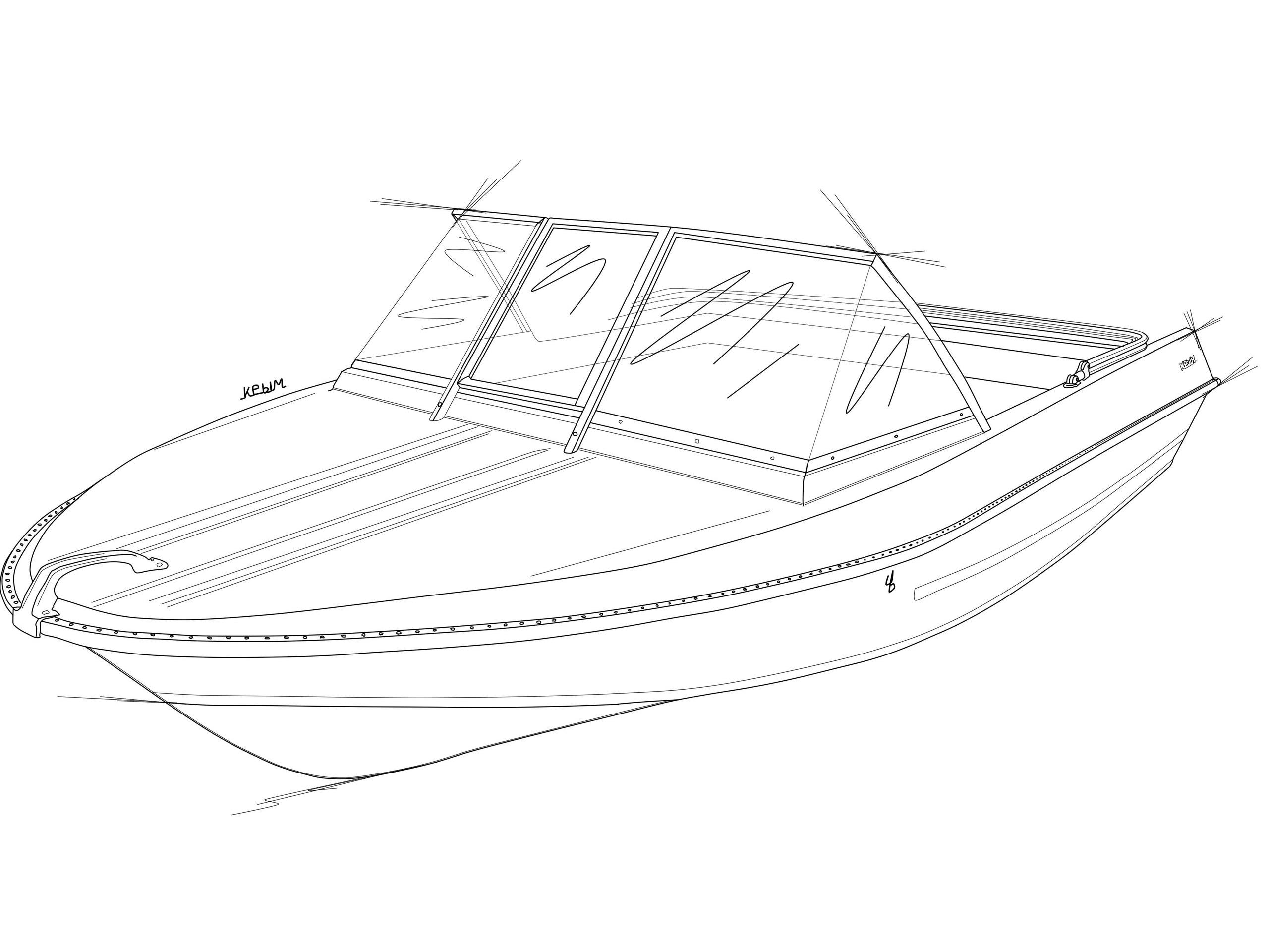 Стекло и тент для лодки Крым 1