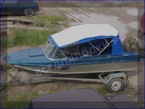 Тент на лодку Казанка 5М2,3,4 на штатное стекло