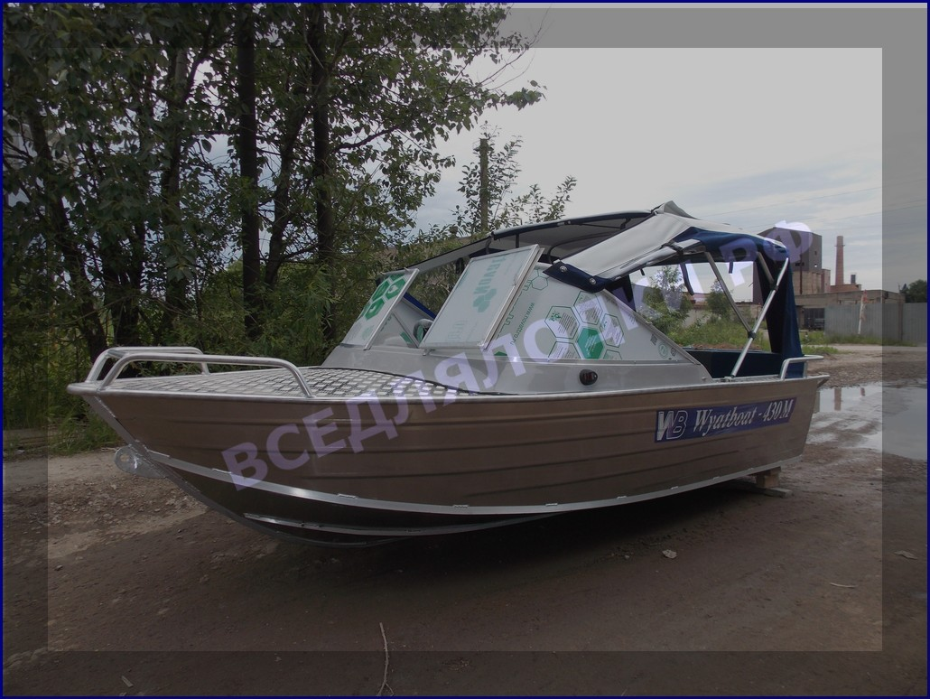 Тент ходовой для лодки Вятбот 430М 1