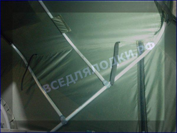 """Тент. Прогресс-2 на стекло с калиткой серии """"Фишинг"""" 10"""