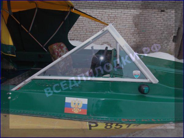 Крым-М. Стекло в рамке с калиткой для выхода на нос 2