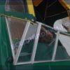 Крым-М. Стекло в рамке с калиткой для выхода на нос 38