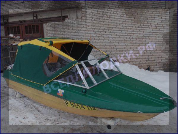 Крым-М. Стекло в рамке с калиткой для выхода на нос 18