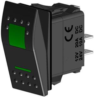 Кнопка включения трёхпозиционная зелёная