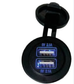 Панель для USB круглая с двумя разъёмами