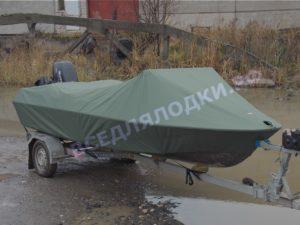 Стояночный и транспортировочный тент на мотолодку Крым.
