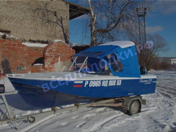 Казанка-2М. Стекло с калиткой и тент.