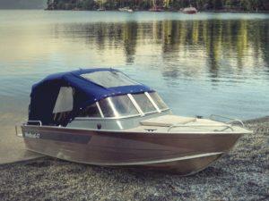 Виндбот 47. Тент для лодки. Тент на три дуги.