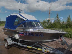 Windboat-45ME. Тент на тройные дуги..