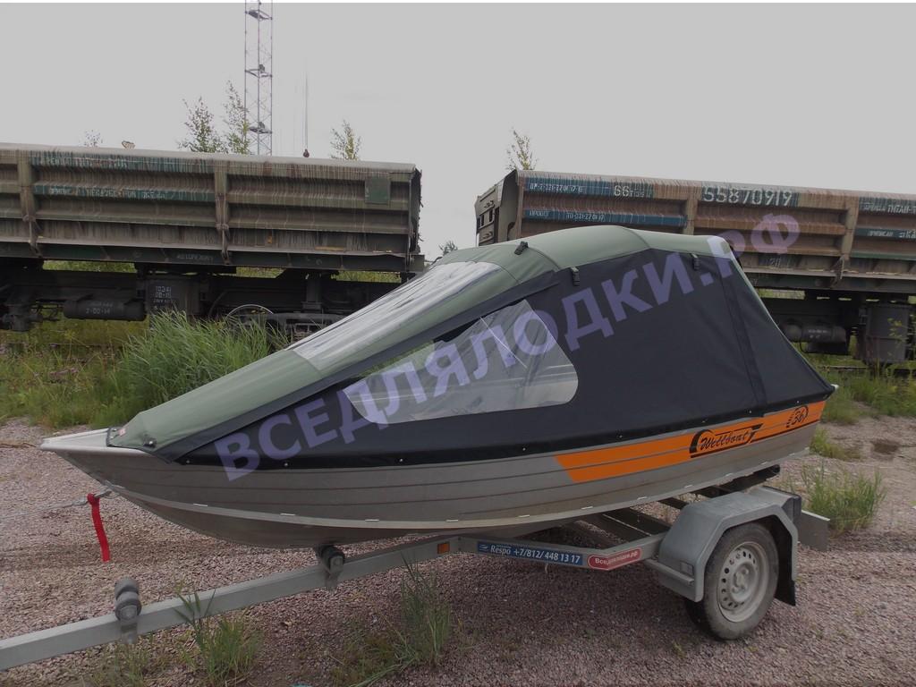 Тент ходовой и транспортировочный для лодки Wellboat-36 1