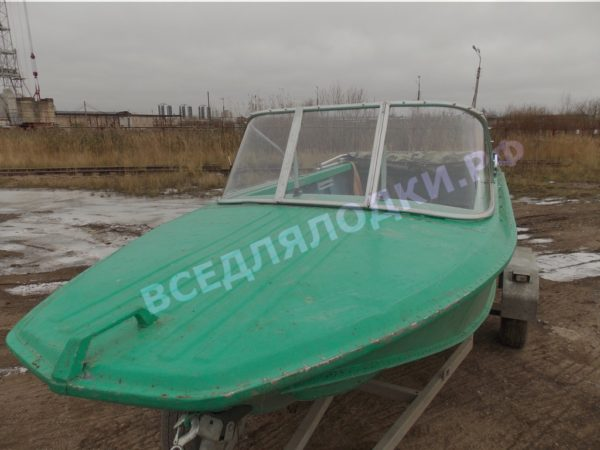Ока-4. Стекло с калиткой на моторную лодку Ока-4 12