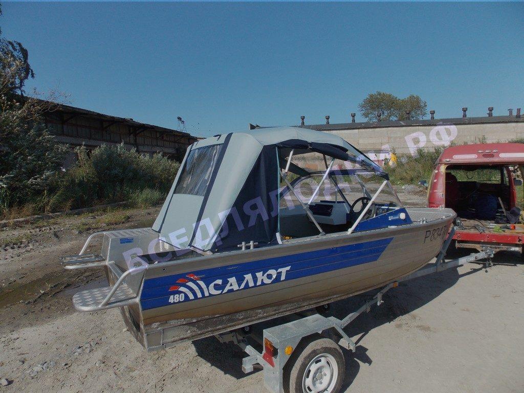 Стекло и тент на лодку Салют-480 1