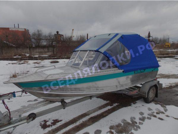 Стекло и тент на лодку Вельбот 410НС