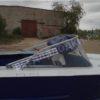 Прогресс-2.<br> Стекло в рамке с калиткой для выхода на нос 31