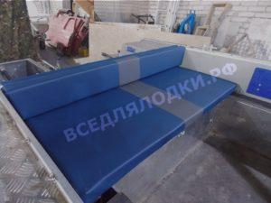 Комплект подушек на задний рундук для мотолодки Салют-480.