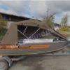 Wellboat-42 / Вельбот-42. Тент ходовой на тройные дуги 27