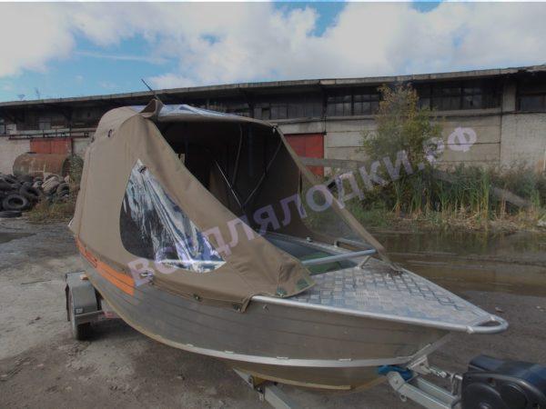 Wellboat-42 / Вельбот-42. Тент ходовой на тройные дуги 11