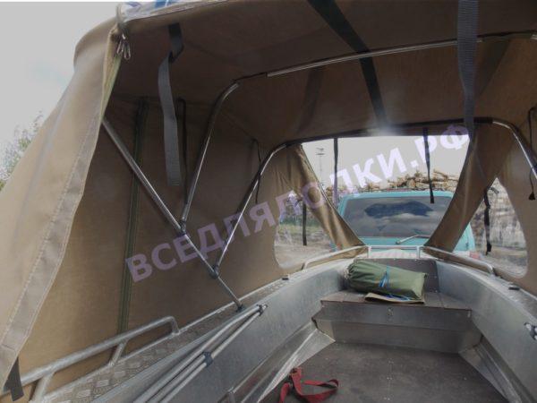 Wellboat-42 / Вельбот-42. Тент ходовой на тройные дуги 12
