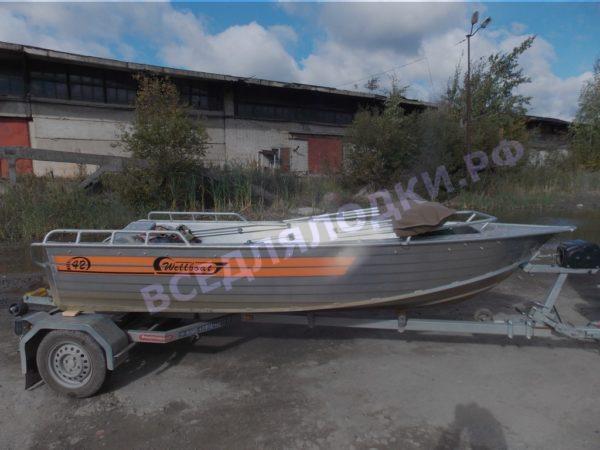 Wellboat-42 / Вельбот-42. Тент ходовой на тройные дуги 13